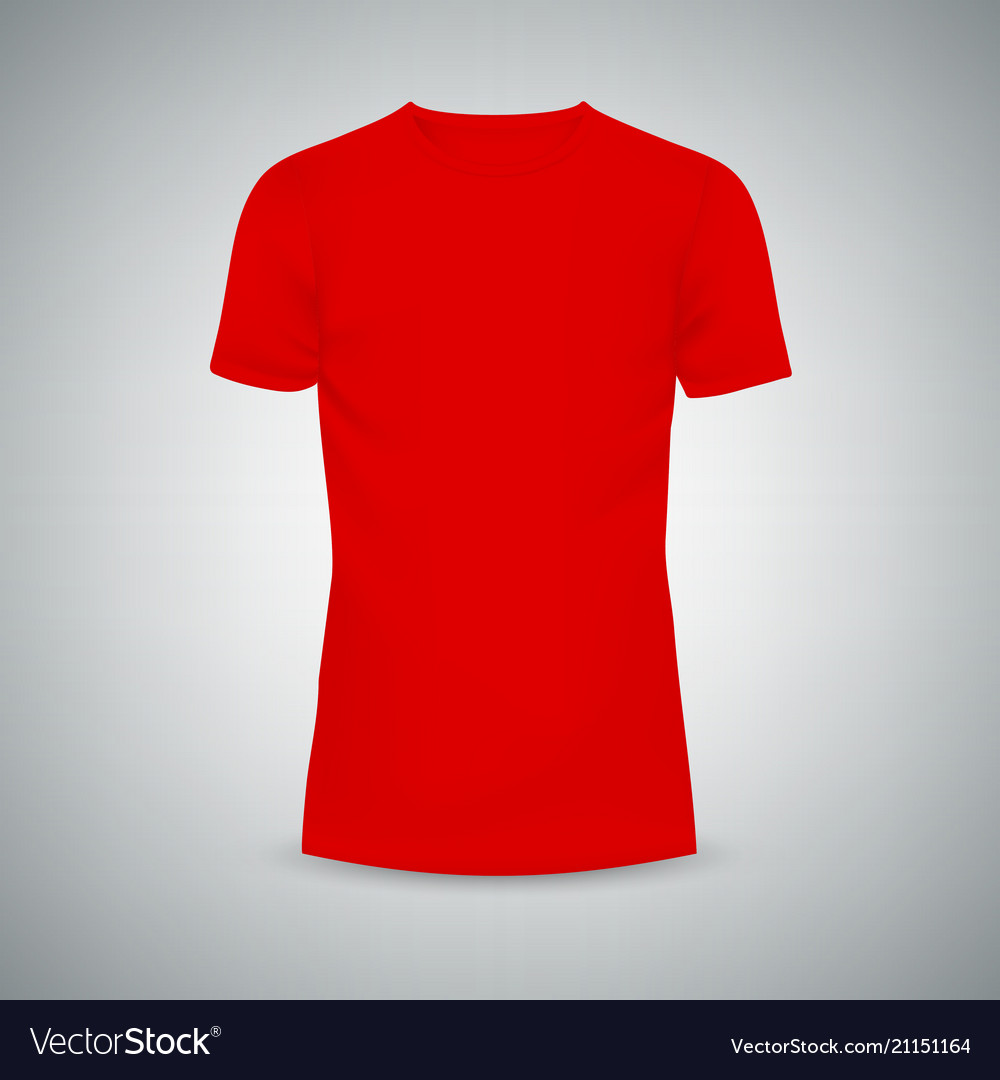 Male T Shirt Template Mockup Royalty Free Vector Image
