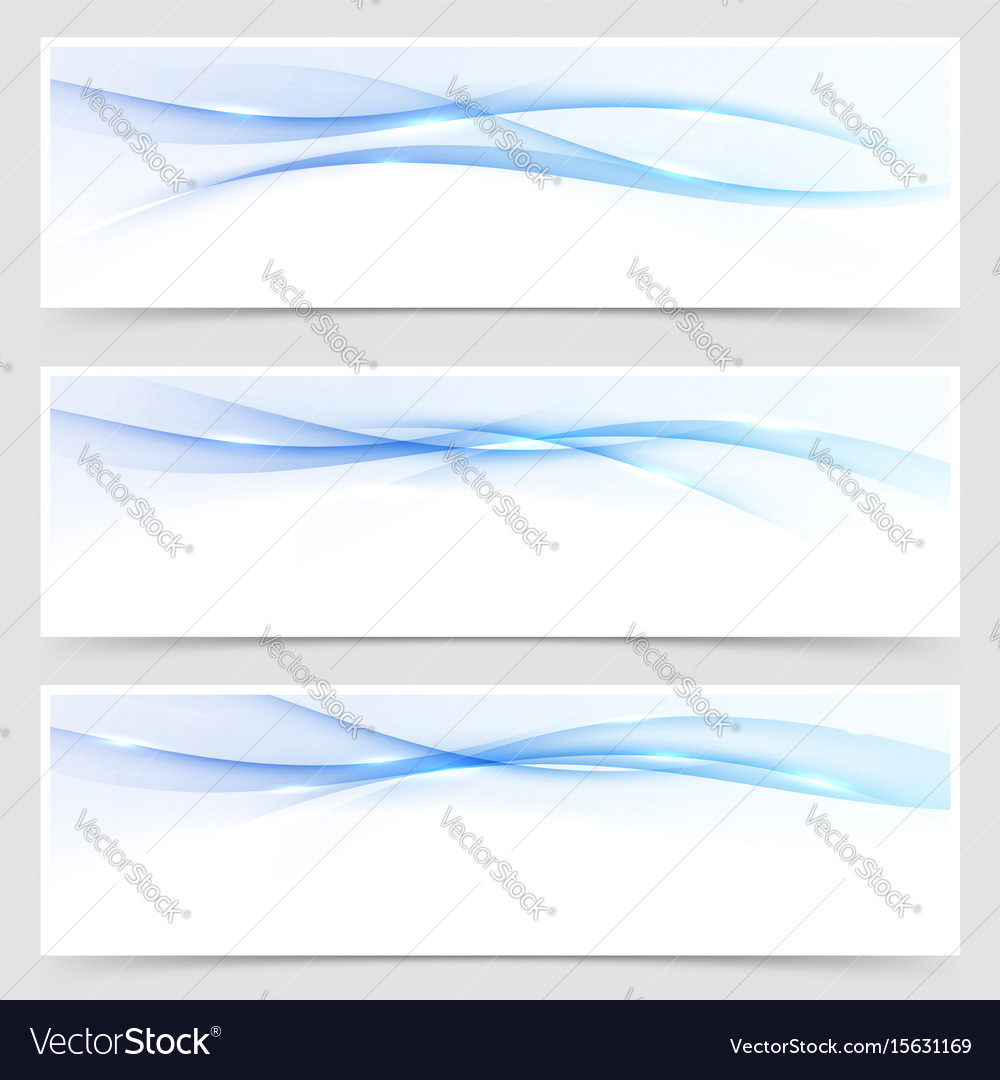 Beautiful bright blue business flyer template vector image