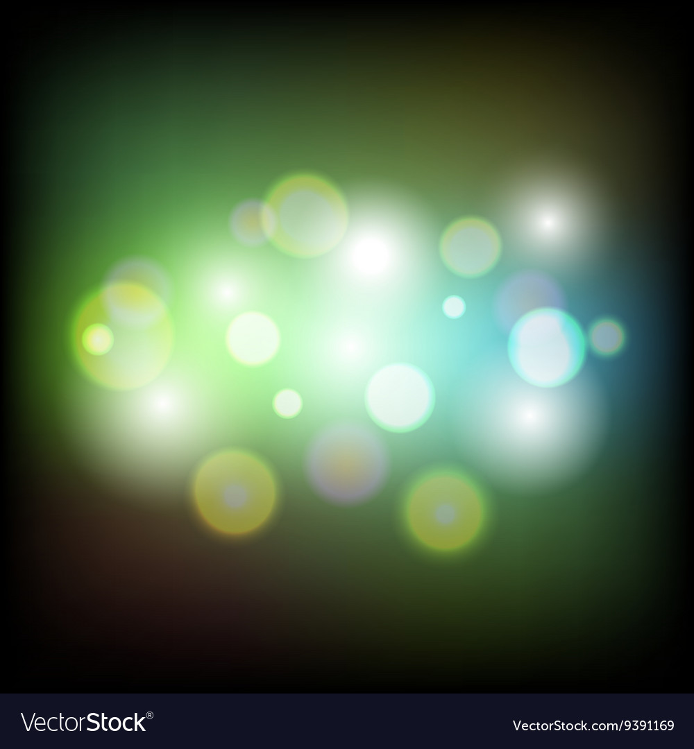 Colorful abstract bokeh light background vector image