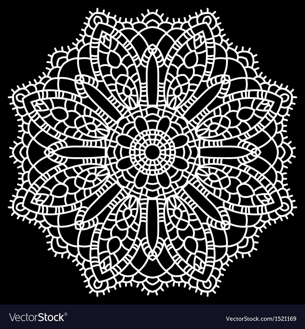 Crochet Lace Mandala Royalty Free Vector Image