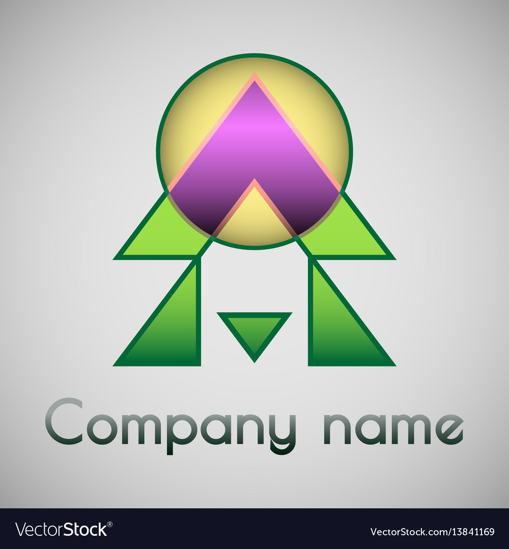 Geometrical logo of the company vector image