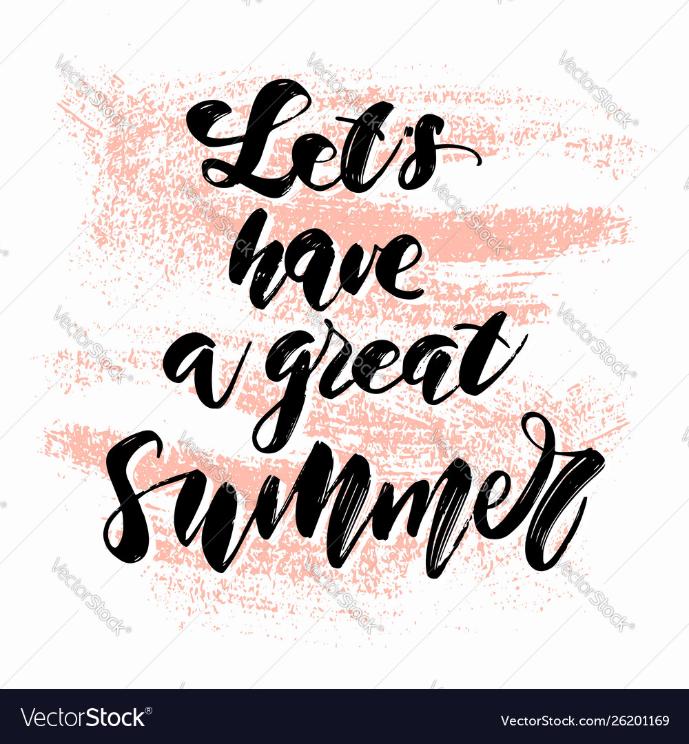 Hand drawn summer lettering travel and vacation