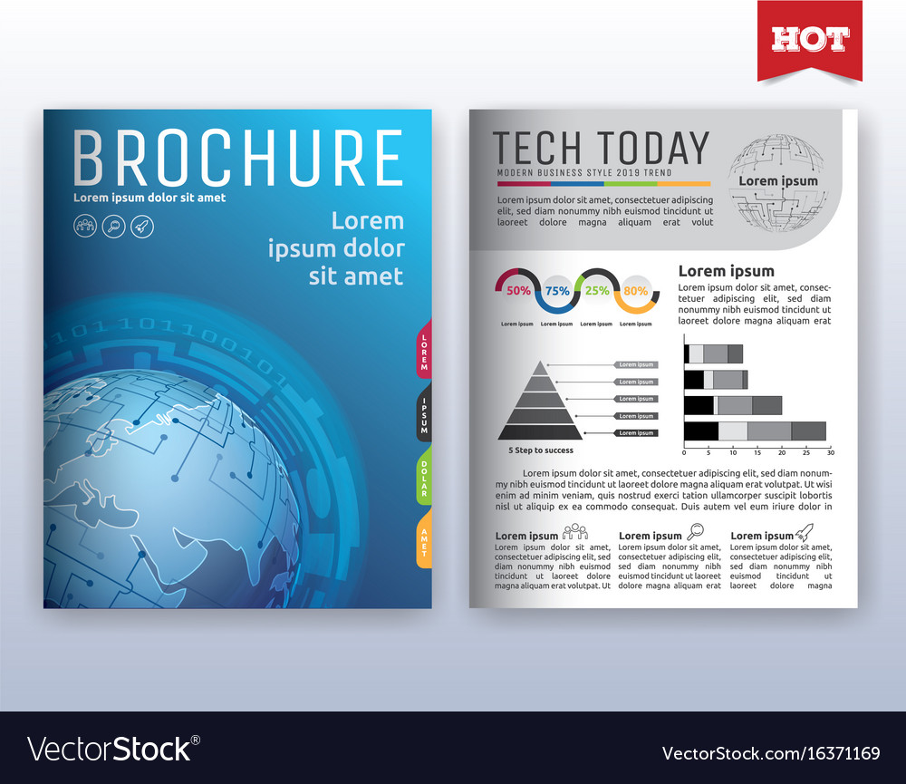 Modern corporate business flyer layout design