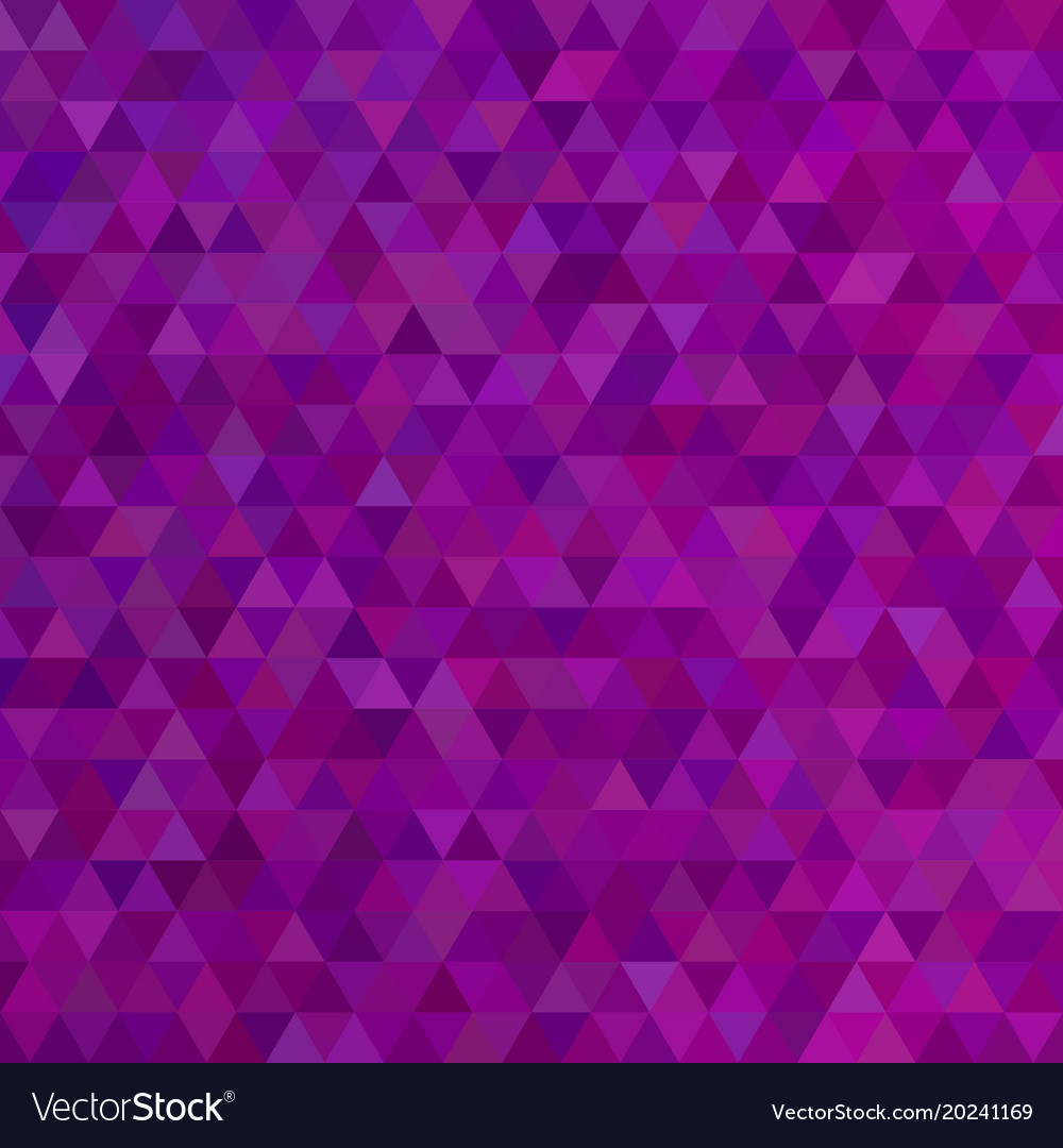 Purple abstract mosaic triangle tile pattern vector image