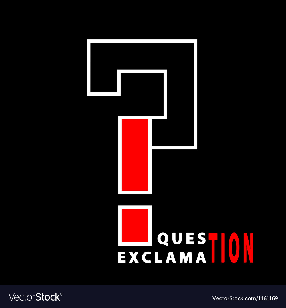 Question and exclamation vector image