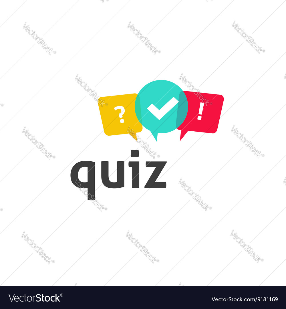 Quiz logo poll questionnaire icon with Royalty Free VectorQuestionnaire Logo