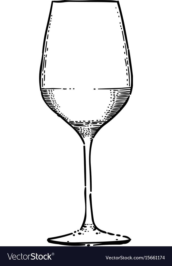 cartoon image of wine icon wine glass symbol vector image rh vectorstock com cartoon red wine glass cartoon wine glass black and white