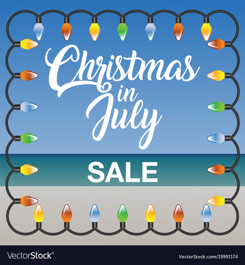 Christmas In July Sale Images.Christmas In July Sale Marketing Template Vector Image