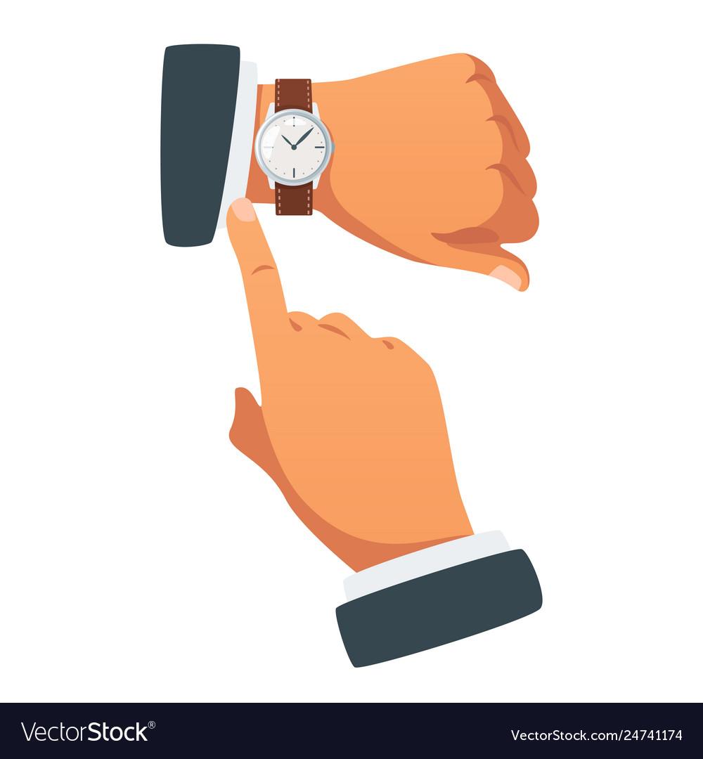 Deadline concept hands gesture