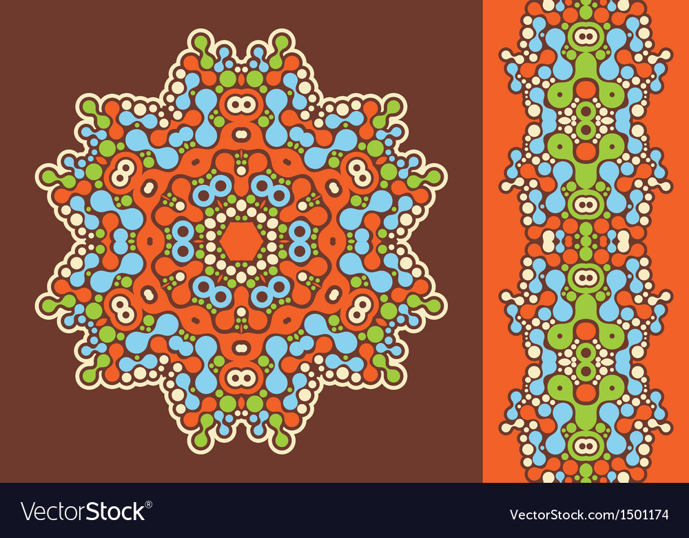 Decoration ring and psychedelic seamless pattern