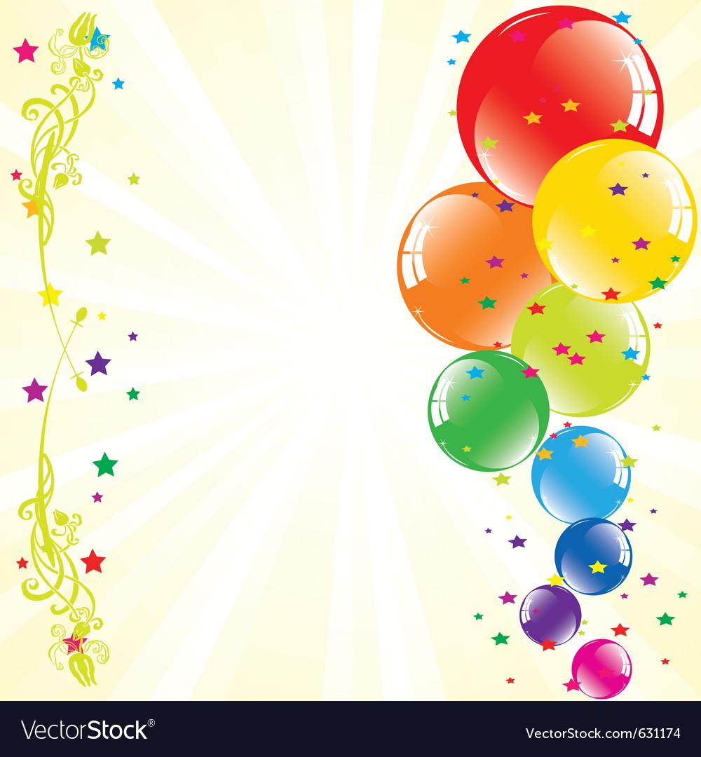 Днем рождения, поздравления с шариками картинка для написания текста