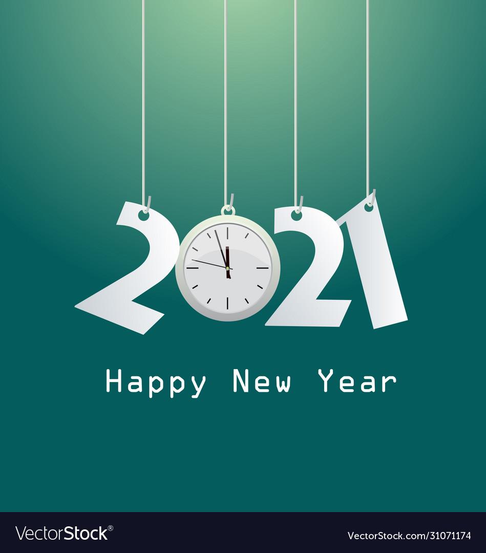Happy New Year 2021 Royalty Free Vector Image Vectorstock