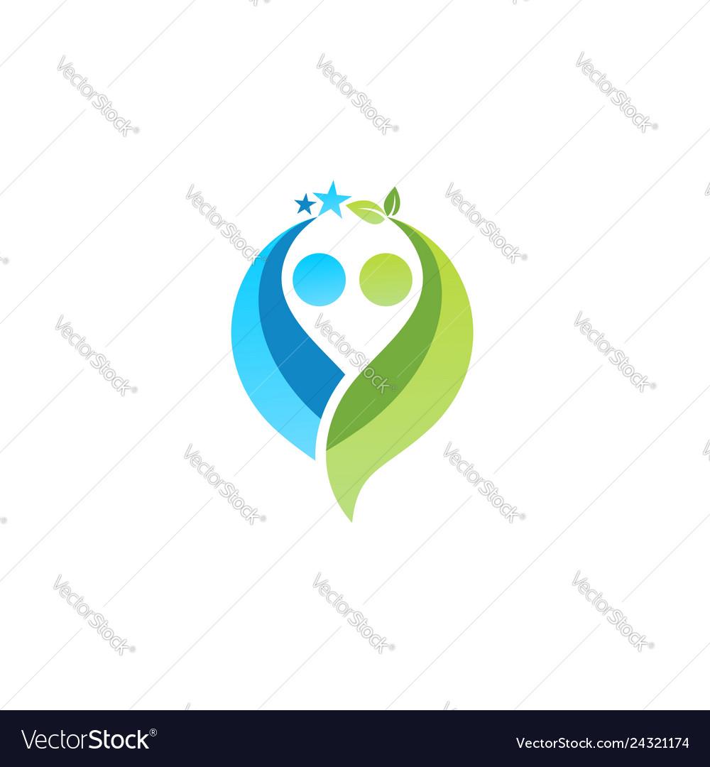 People partnership logo symbol icon design