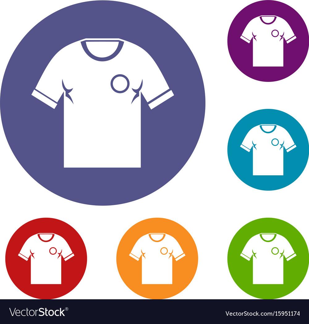 Soccer shirt icons set vector image