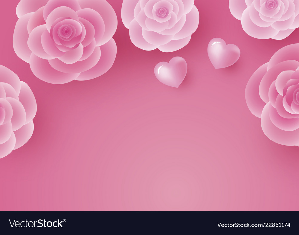 Valentines day card design of rose flower