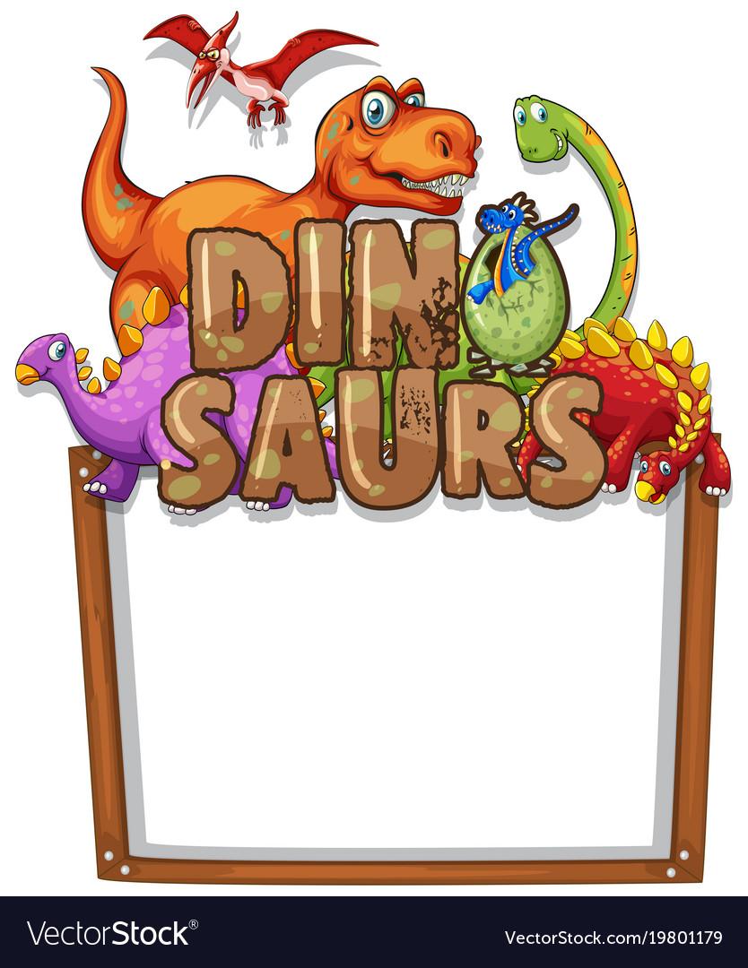 Cartoon Dinosaur Border