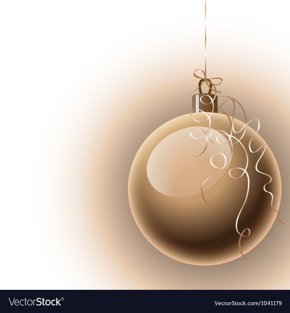 Christmas background with ball
