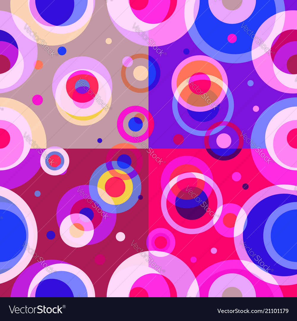 Geometric seamless pattern retro design