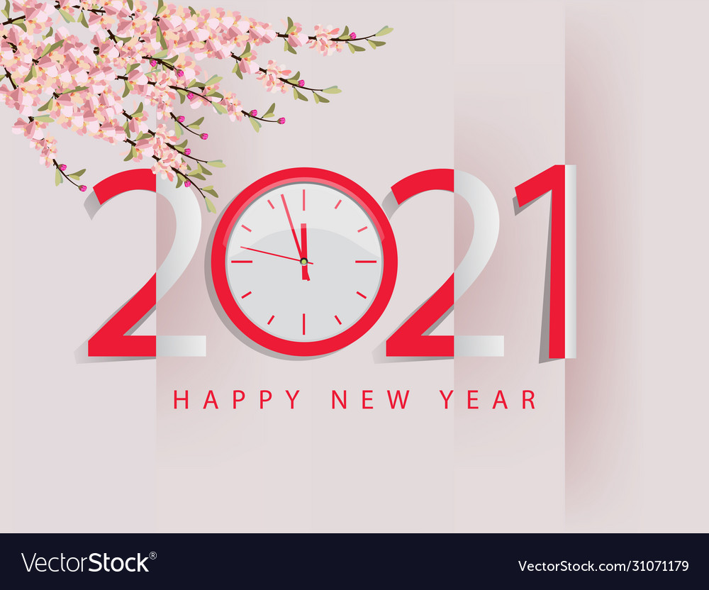 Happy New Year 2021 Royalty Free Vector Image Vectorstock