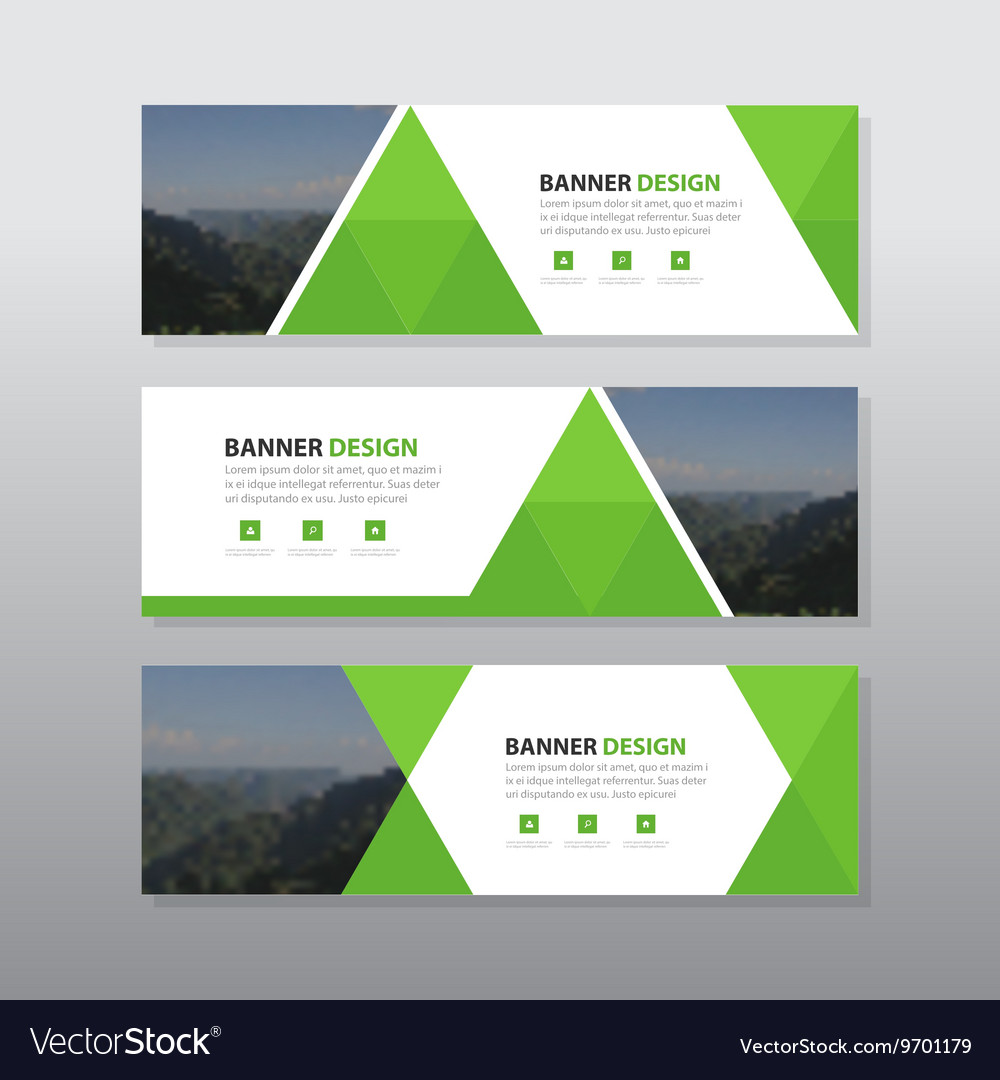 Leaf triangle abstract corporate business banner