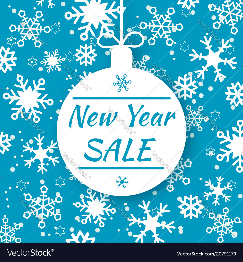 New year sale special offer tag shop market