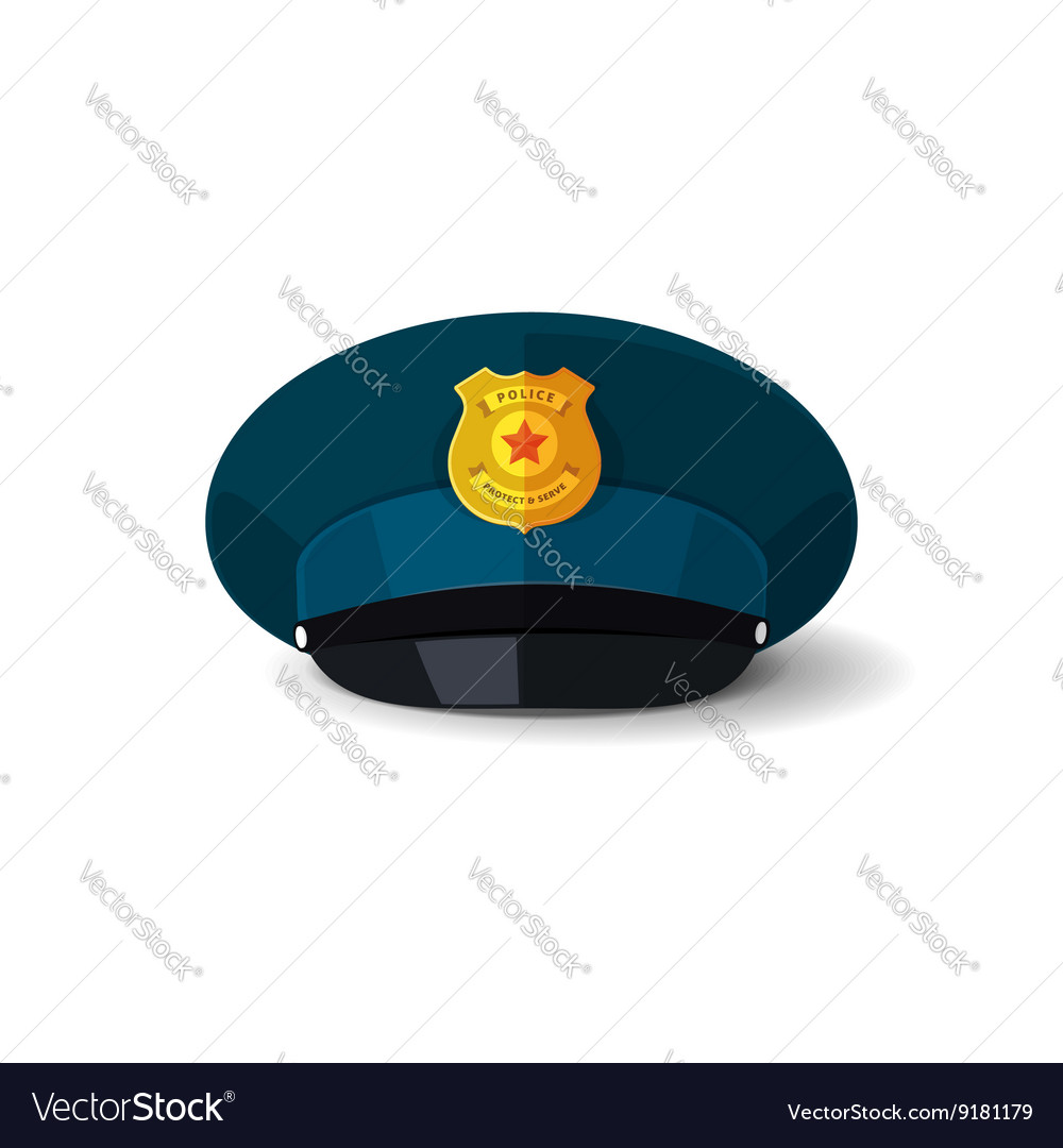 8fa14f78519 Police hat officer cop cap Royalty Free Vector Image