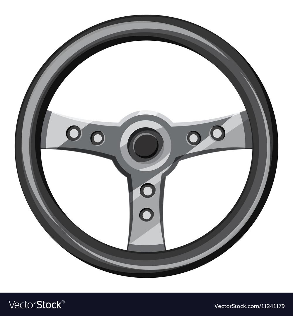 Steering wheel icon isometric 3d style vector image