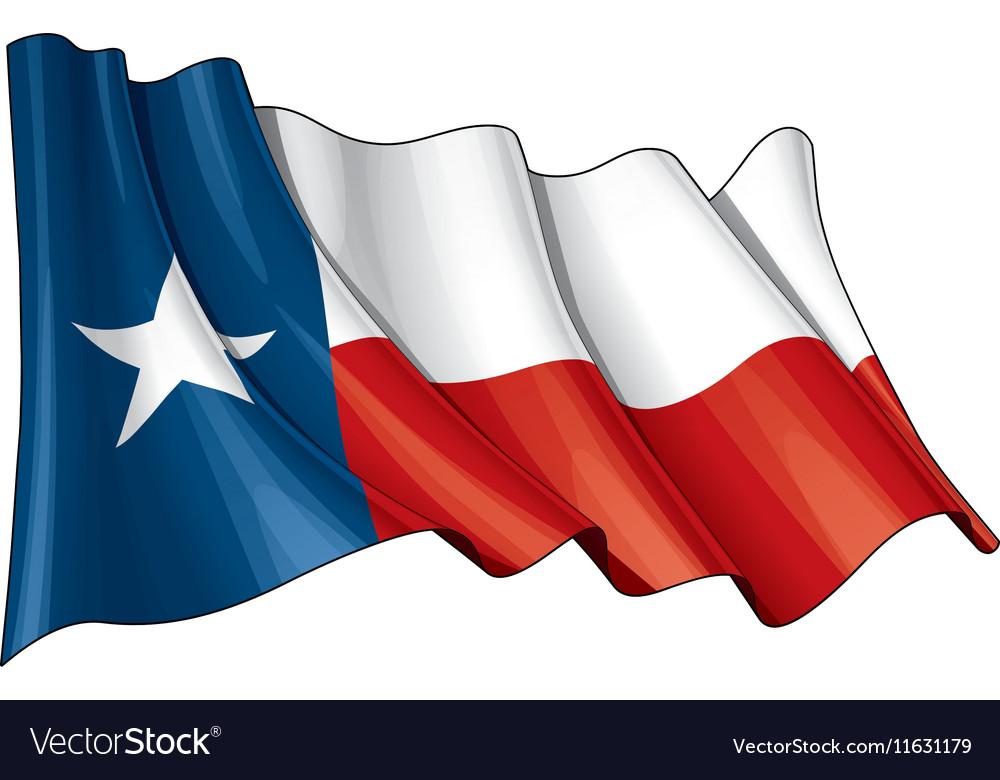 texas waving flag royalty free vector image vectorstock rh vectorstock com waving flag vector tutorial waving flag vector art