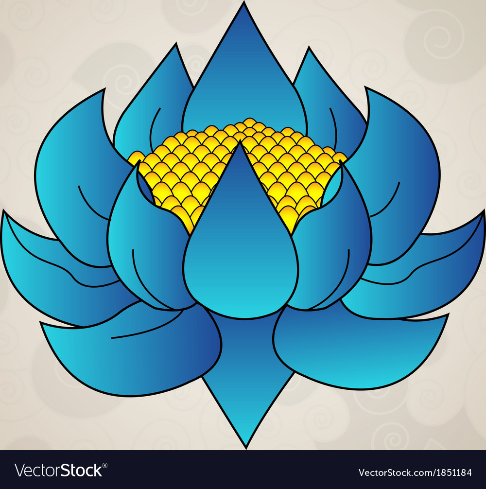 Blue lotus japanese tattoo