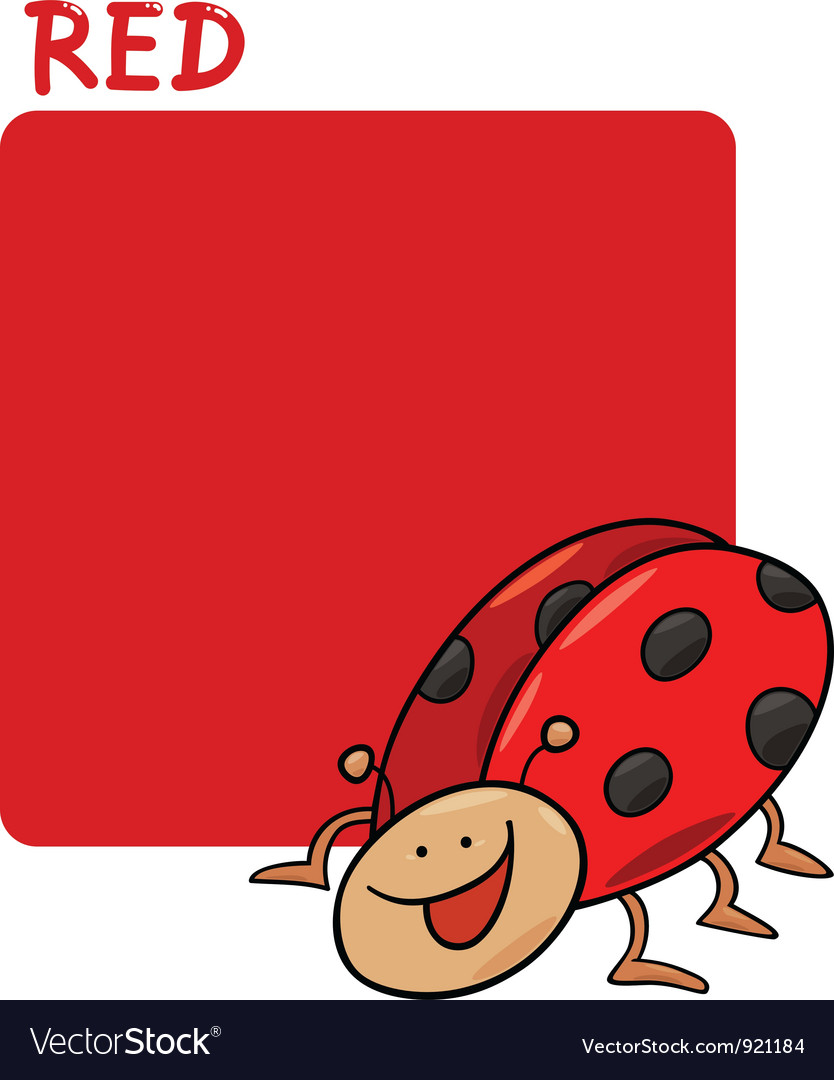 - Color Red And Ladybug Cartoon Royalty Free Vector Image