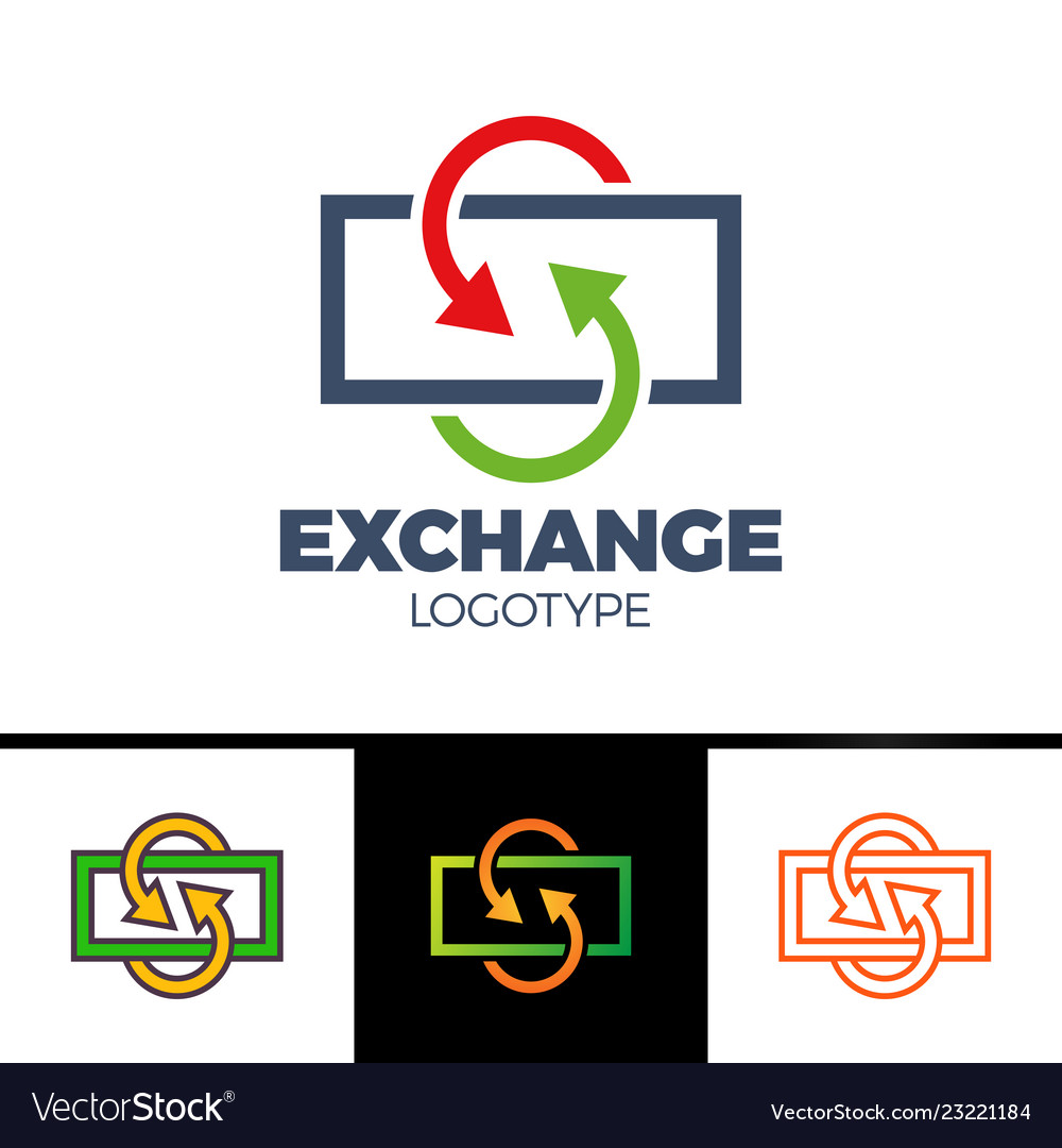 Currency exchange line icon filled outline sign