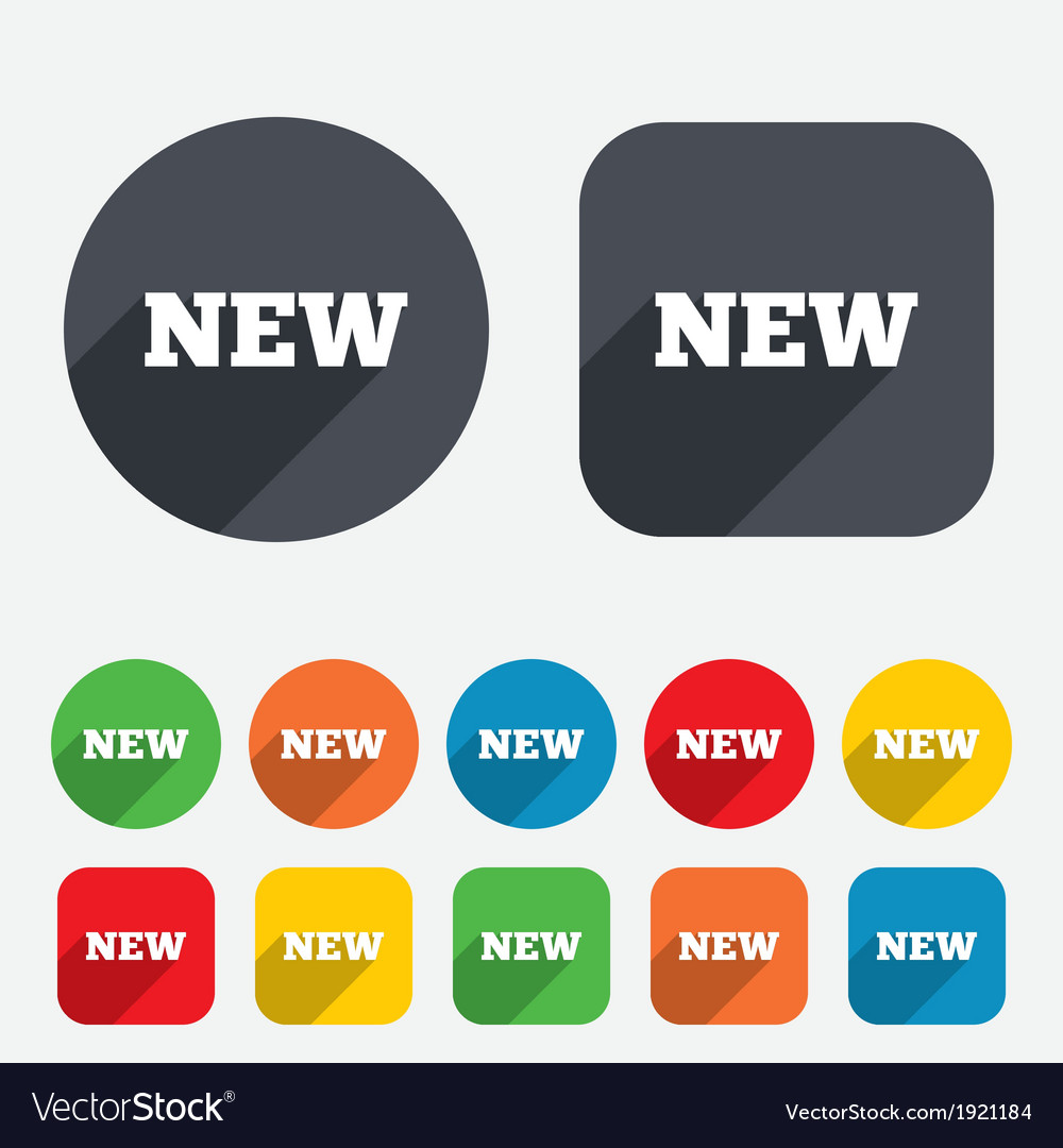 New sign icon New arrival button