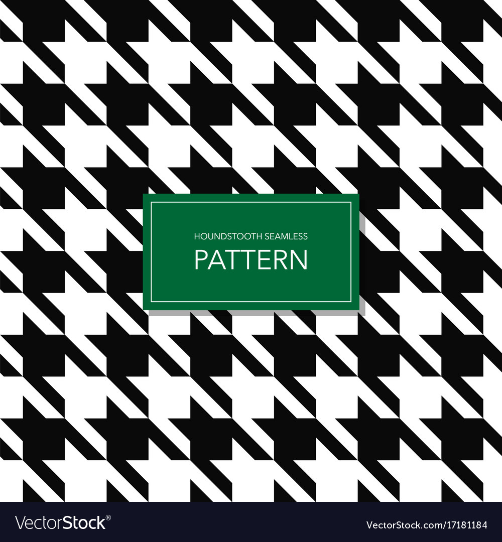 Seamless black and white houndstooth background