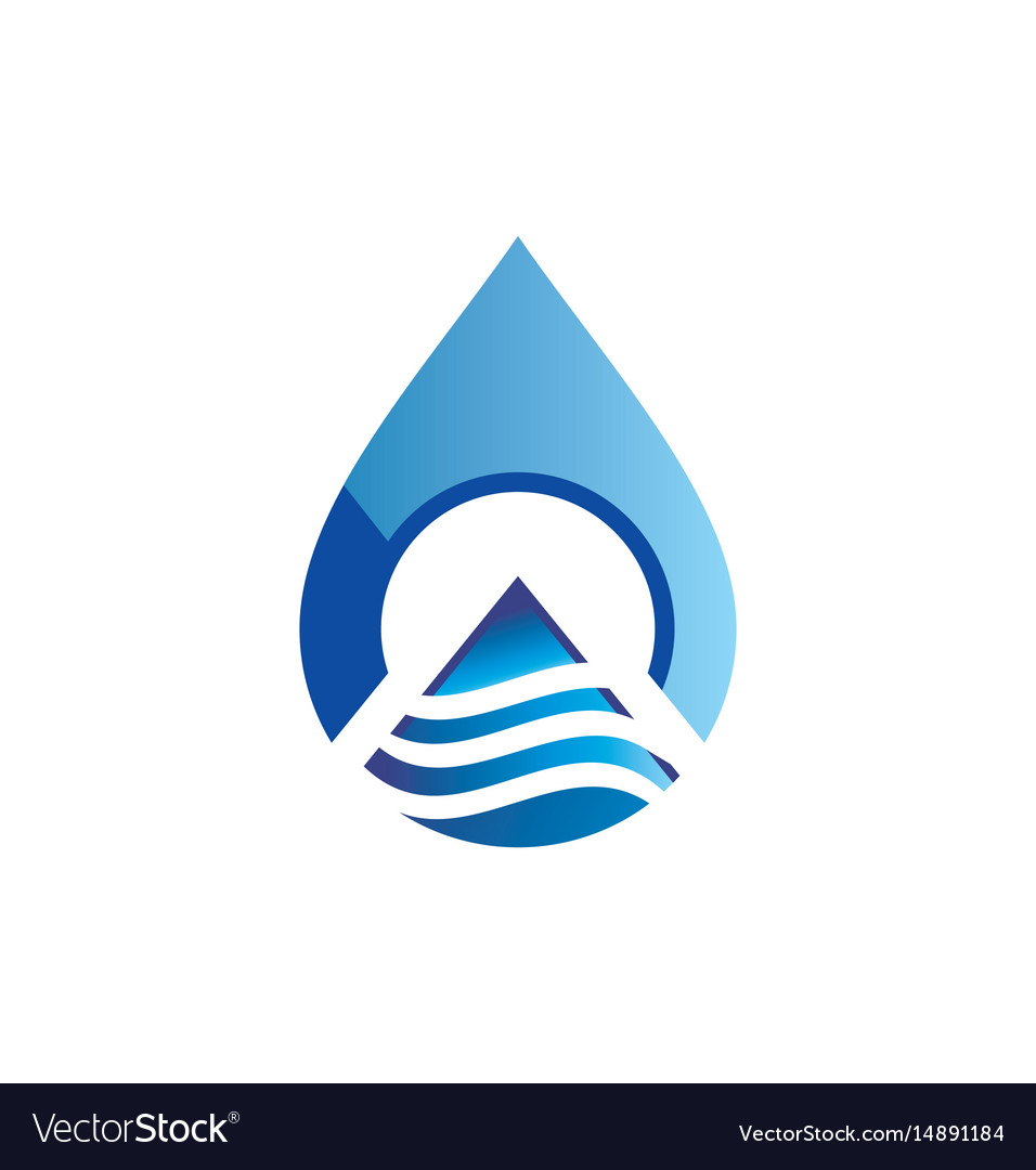 Water drop technology abstract logo