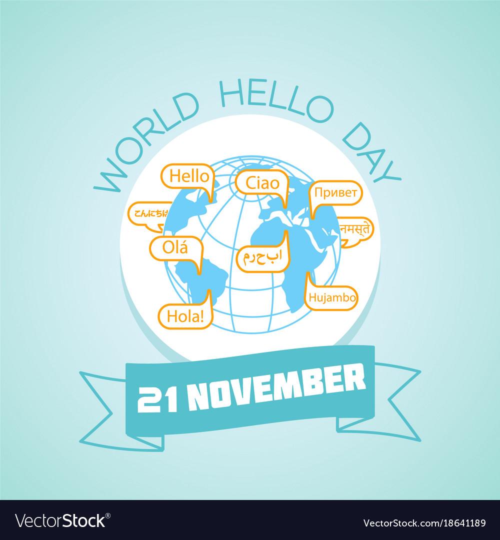 21 november world hello day