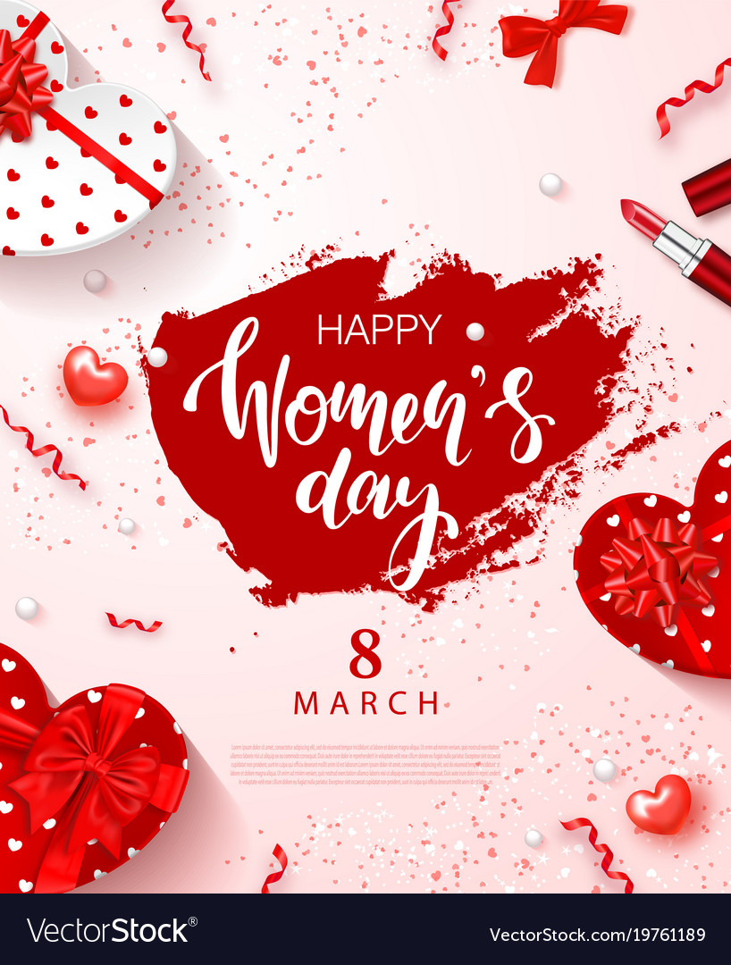 8 march - happy women s day festive card