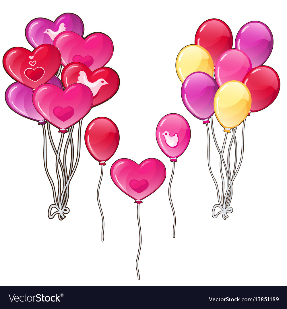 Balloons bouquets classic shapes and a heart