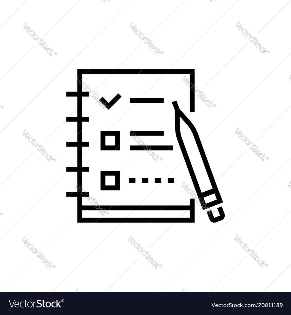 Check list - line design single isolated icon