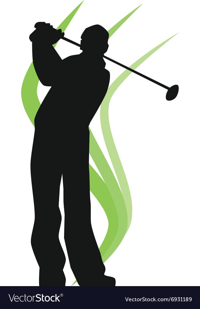 Epa Golfer Silhouette Royalty Free Vector Image