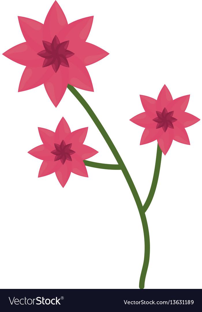 Flower branch spring icon