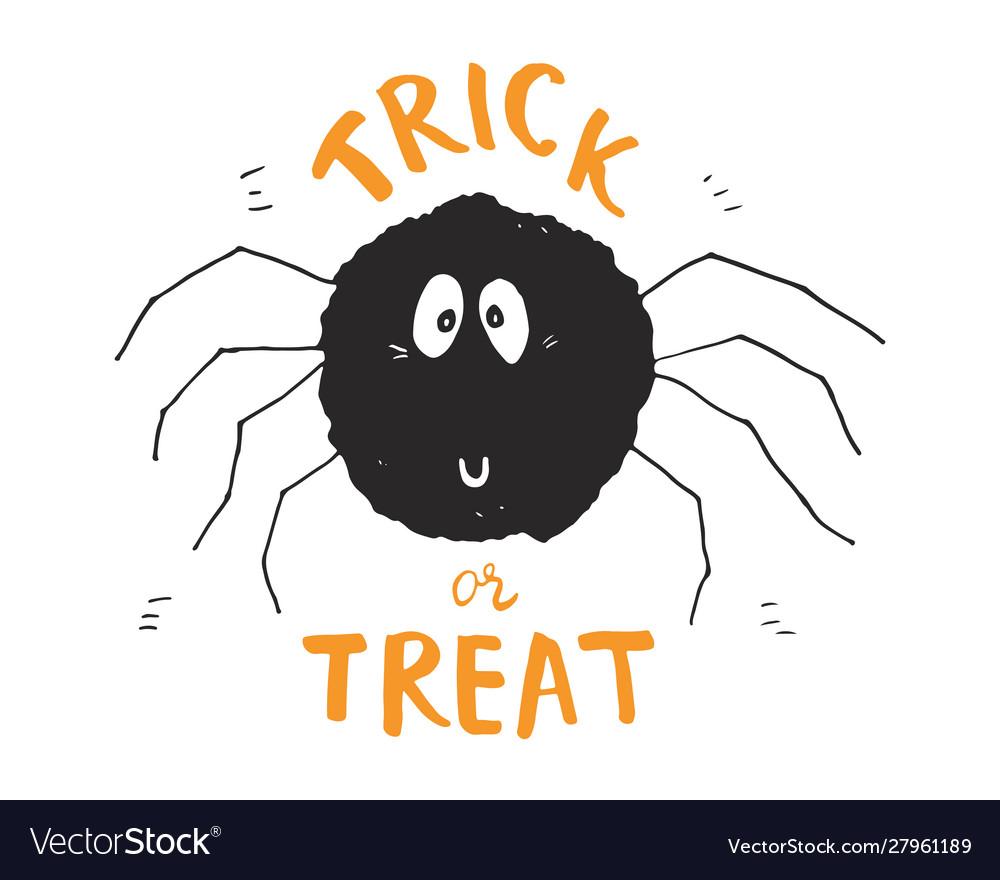 Halloween greeting card design cute spider