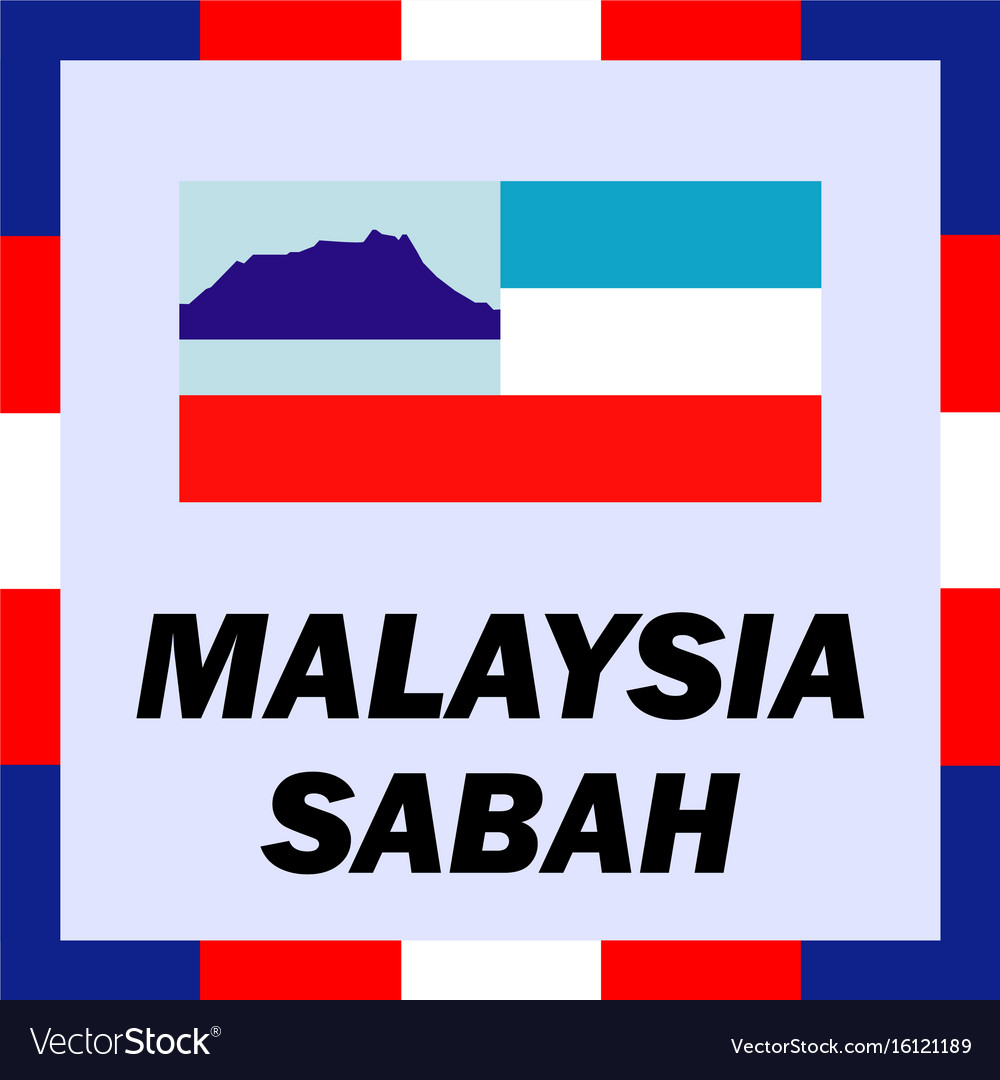Official ensigns flag and coat of arm of malaysia vector image