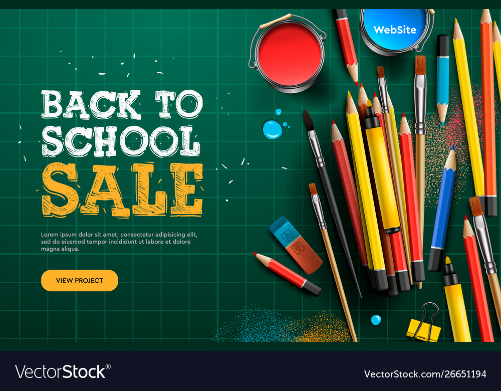 Back to school sale landing page template