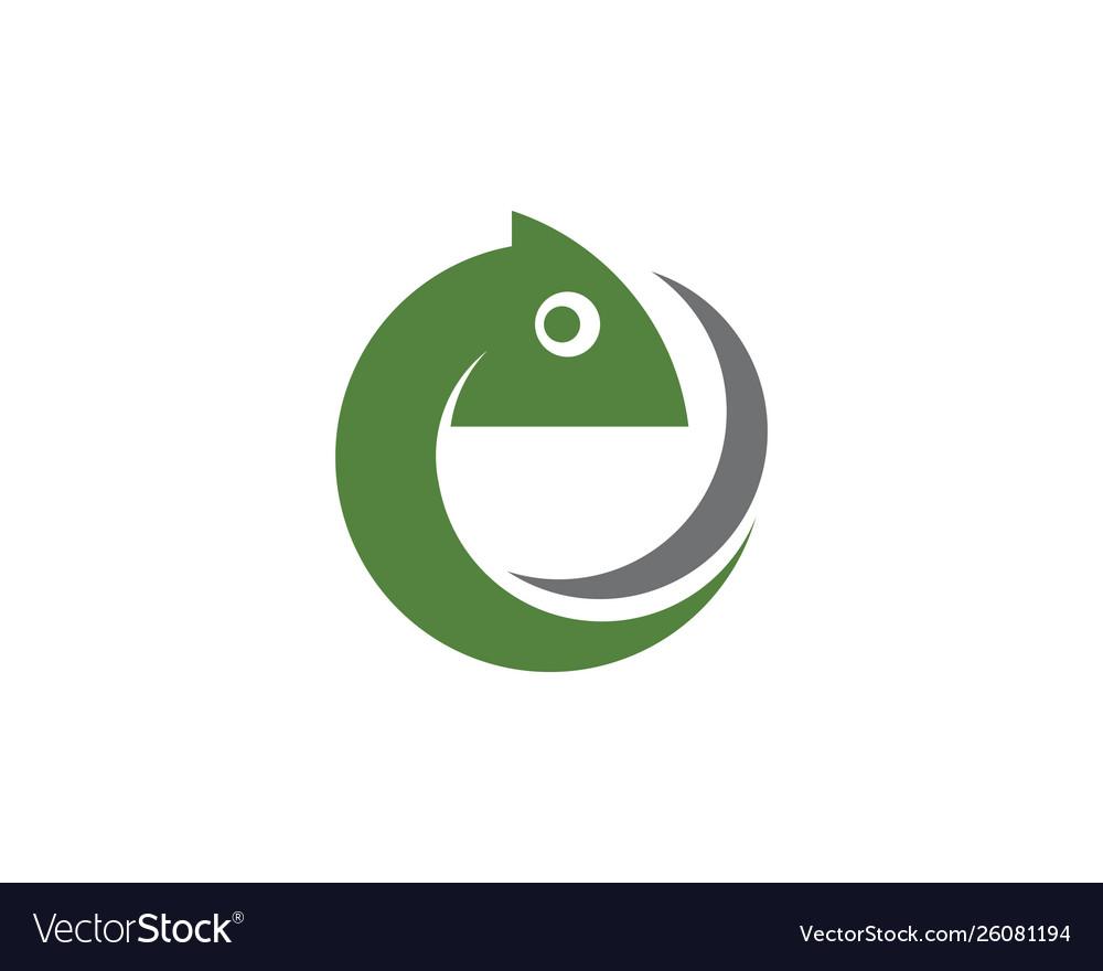 Chameleon icon silhouette