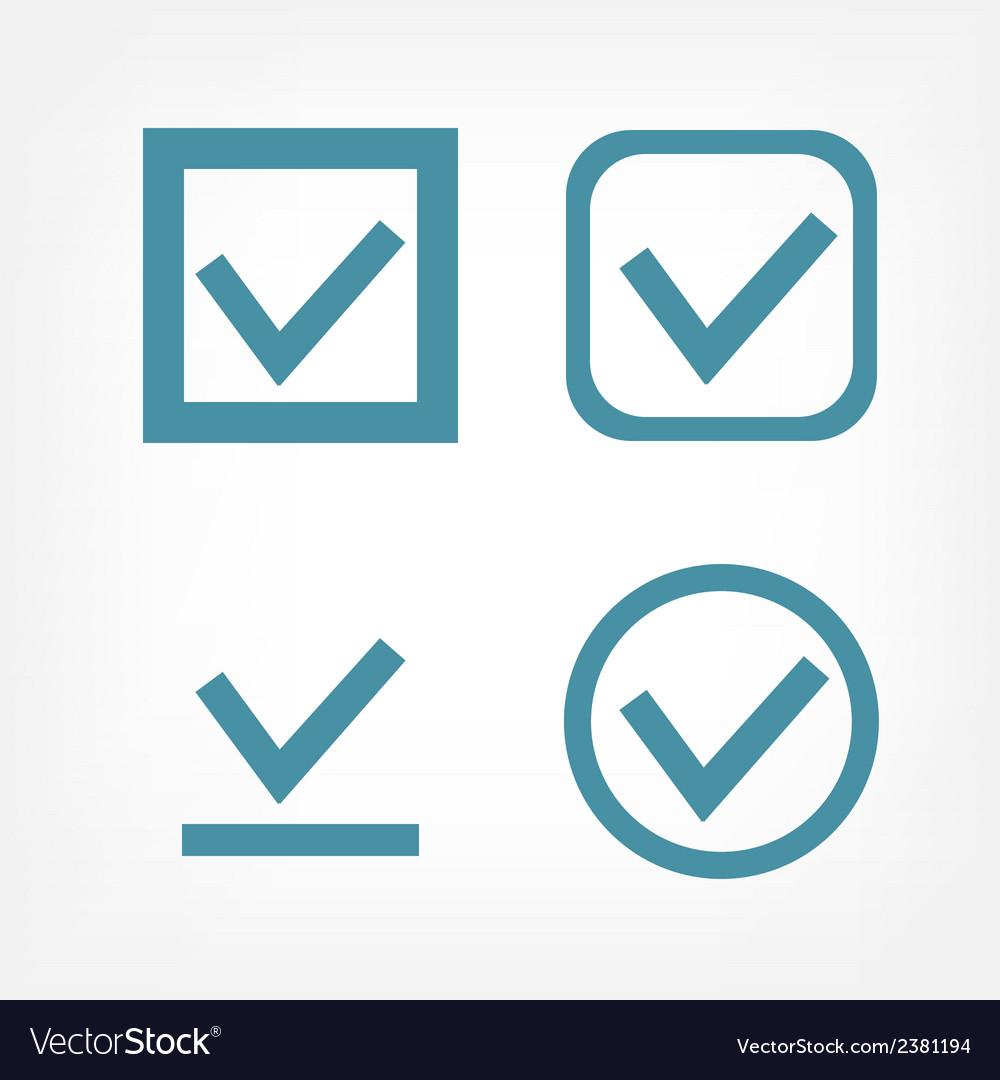 Check mark flat icons