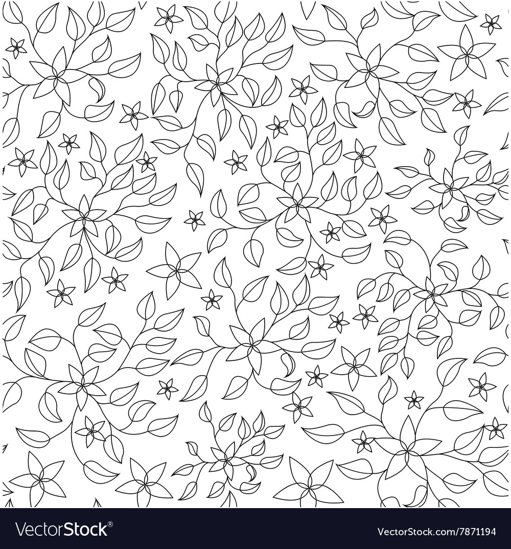 Coloring antistress with flowers vector image