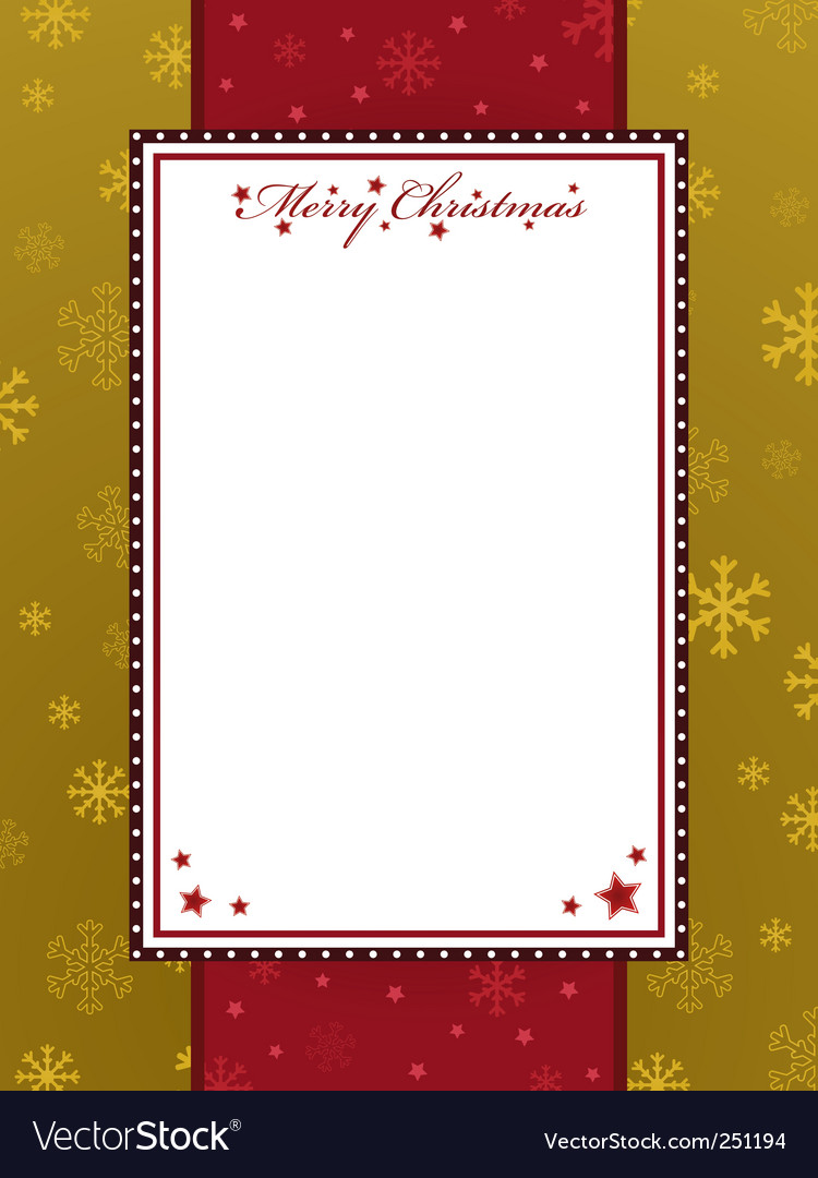 Red And Gold Christmas Frame Royalty Free Vector Image
