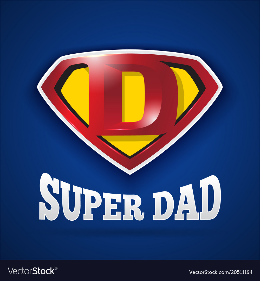 Super dad logo design for fathers day