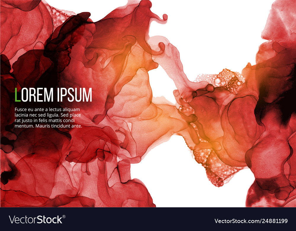 Abstract background with ink pattern on white