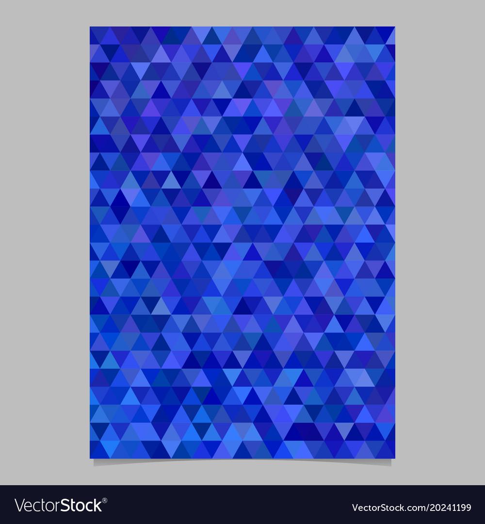 Blue abstract brochure template design vector image